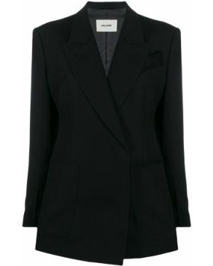 Черный приталенный классический пиджак с карманами We11done