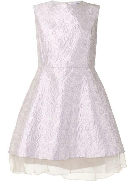 Фиолетовое шелковое платье винтажное Christian Dior