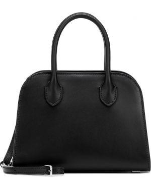 Черная сумка-тоут из натуральной кожи The Row