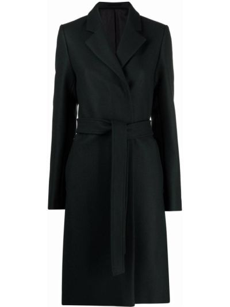 Długi płaszcz wełniany - czarny Filippa K