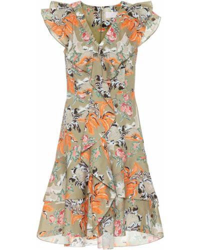 Платье мини с оборками Peter Pilotto