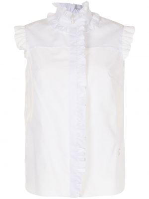 Biała biała koszula bawełniana Erdem