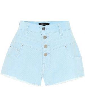 Однобортные джинсовые шорты со стразами Amiri