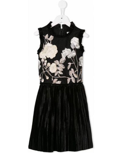 Платье с рукавами плиссированное без рукавов David Charles Kids