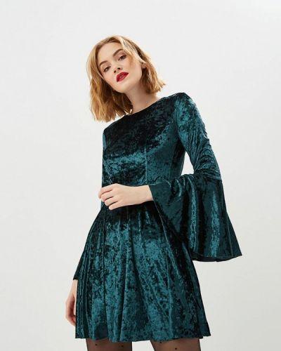 Вечернее платье осеннее зеленый Ruxara