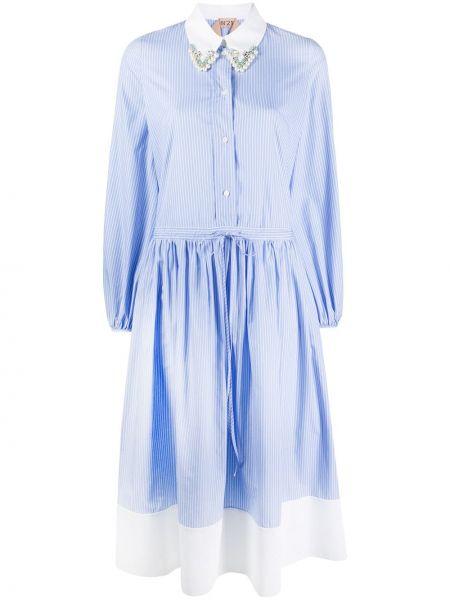 Платье миди макси в полоску N21
