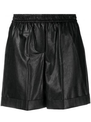 Черные с завышенной талией шорты с поясом Nude