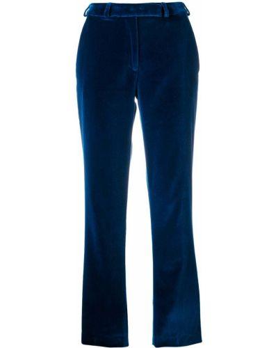 Прямые с завышенной талией укороченные брюки с карманами Etro