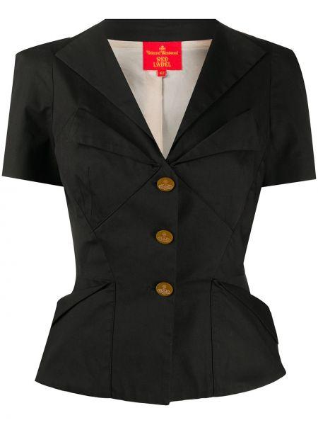 Приталенная черная короткая куртка с короткими рукавами Vivienne Westwood Pre-owned