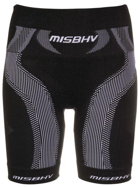 Czarne krótkie szorty Misbhv