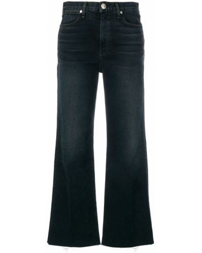 Расклешенные джинсы на пуговицах синие Rag & Bone/jean