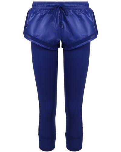 Синие леггинсы эластичные Adidas By Stella Mccartney