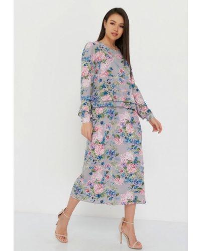 Прямое серое платье Lmp