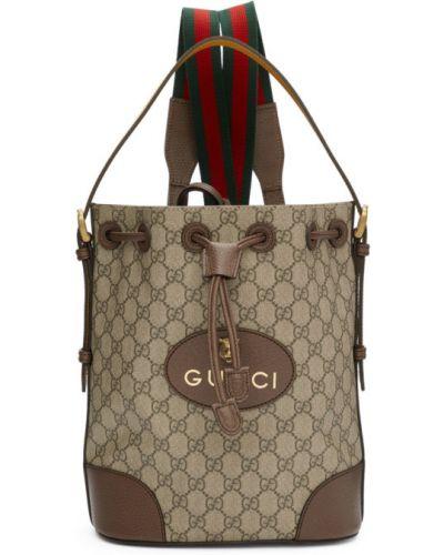 Черный кожаный рюкзак с карманами Gucci