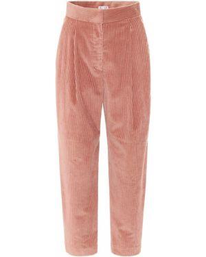 Ватные розовые брюки вельветовые Brunello Cucinelli