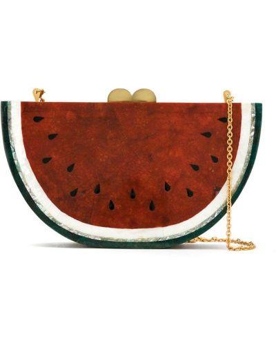 Красная сумка на цепочке Isla