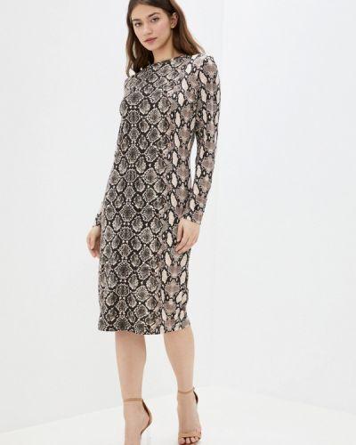 Коричневое прямое платье Top Secret