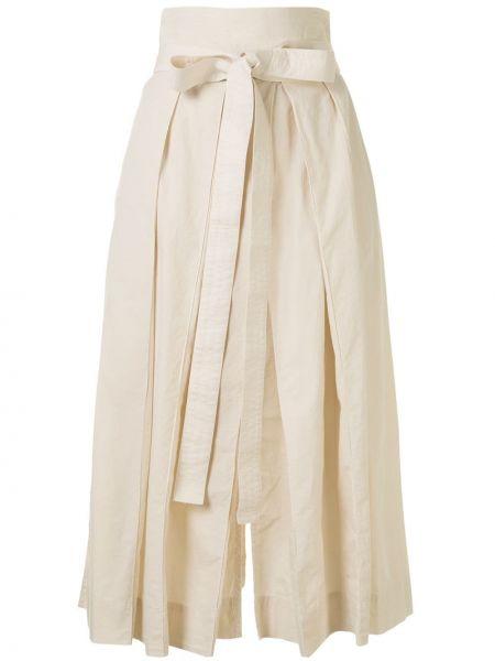 Spódnica midi plisowana z wysokim stanem Lemaire
