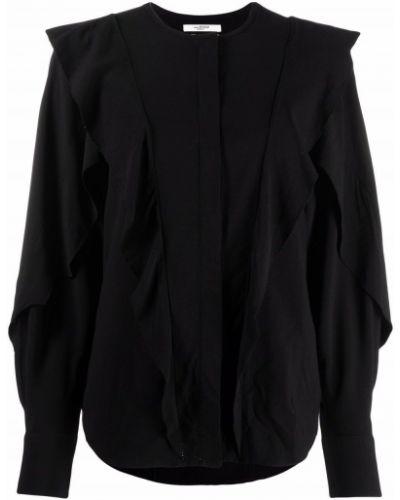 Черная блузка с воротником-стойка Isabel Marant Étoile