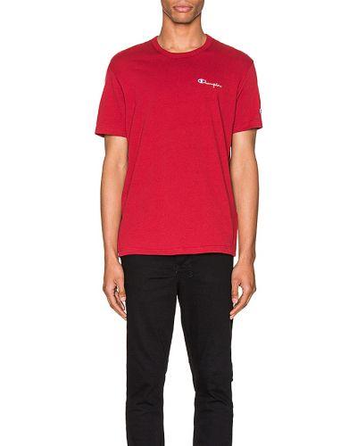 T-shirt bawełniana - czerwona Champion Reverse Weave