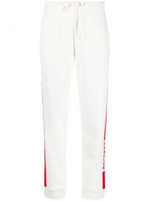 Брючные спортивные брюки с нашивками с манжетами из вискозы Moncler
