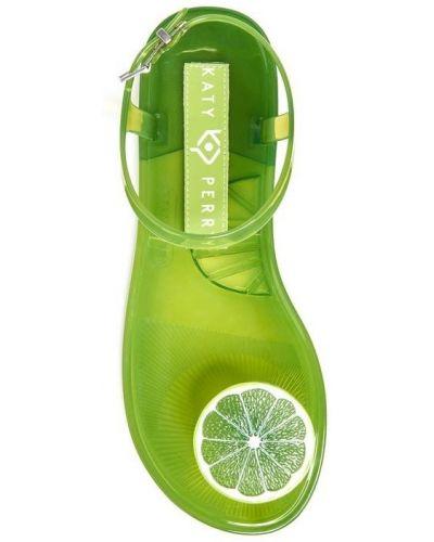 Сандалии с перьями - зеленые Katy Perry