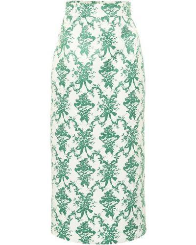 Зеленая юбка миди Emilia Wickstead