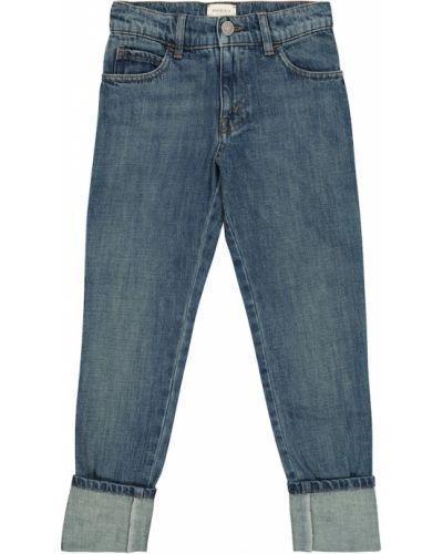 Prosto bawełna bawełna niebieski jeansy Gucci Kids