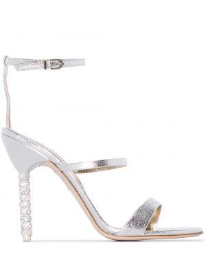 Брендовые кожаные сандалии на каблуке Sophia Webster