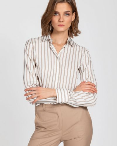 Блузка в полоску классическая Vassa&co