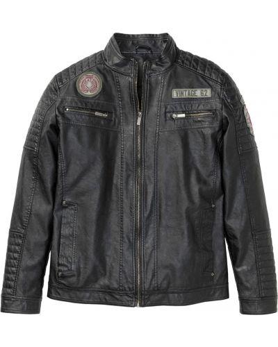 Кожаная куртка из искусственной кожи Bonprix