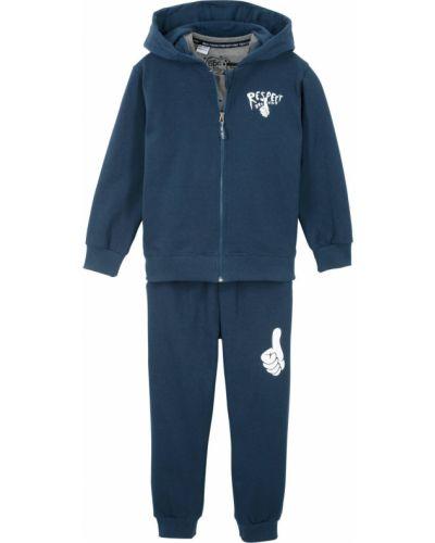 Синий костюмный спортивный костюм на резинке свободного кроя Bonprix
