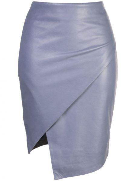 Облегающая синяя юбка с запахом на молнии Michelle Mason