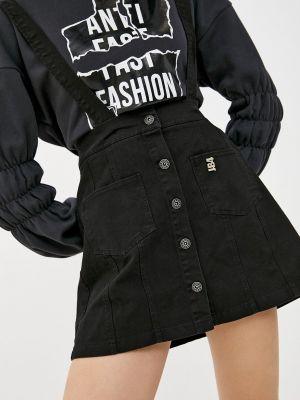 Черная джинсовая юбка J.b4