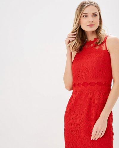 Вечернее платье весеннее красный Morgan