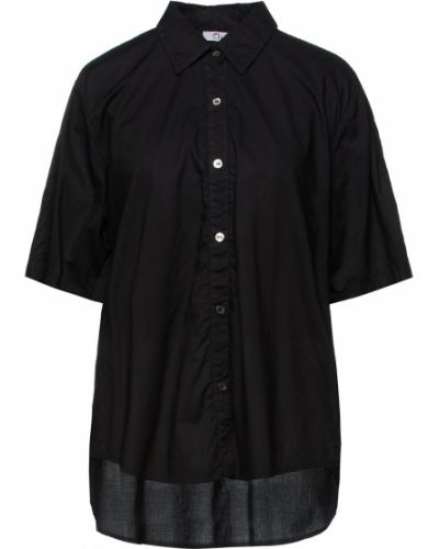 Хлопковая рубашка - черная Clu