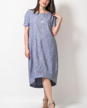 Повседневное с рукавами летнее платье с манжетами с карманами Modellos