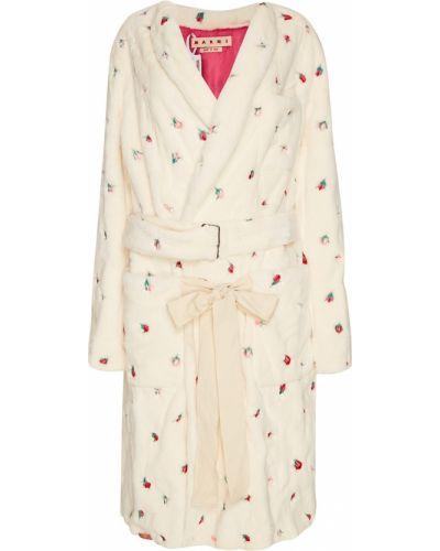 Пальто бежевое пальто-халат Marni