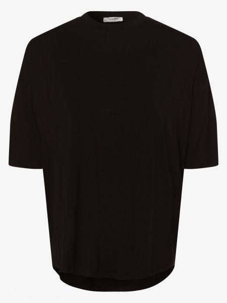 Czarna t-shirt Moss Copenhagen