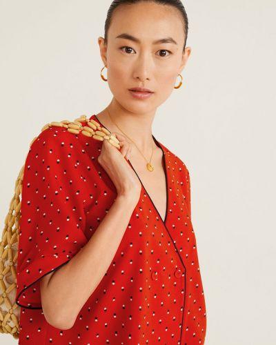 Блузка с запахом с поясом Mango