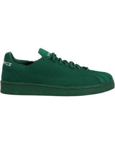 Trampki skorzane - zielone Adidas Originals
