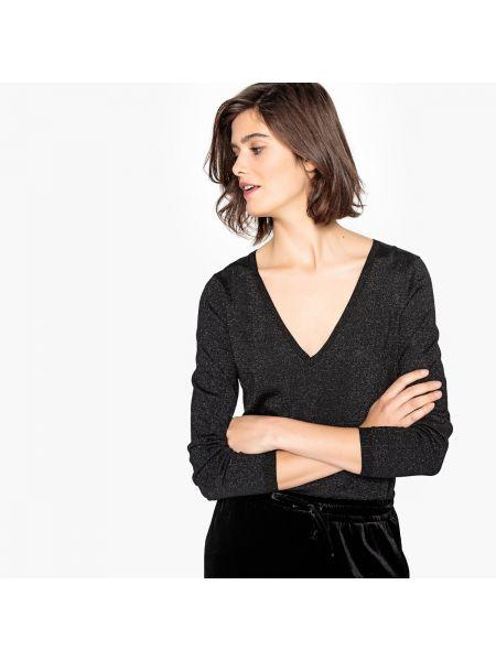 Пуловер с V-образным вырезом металлический La Redoute Collections