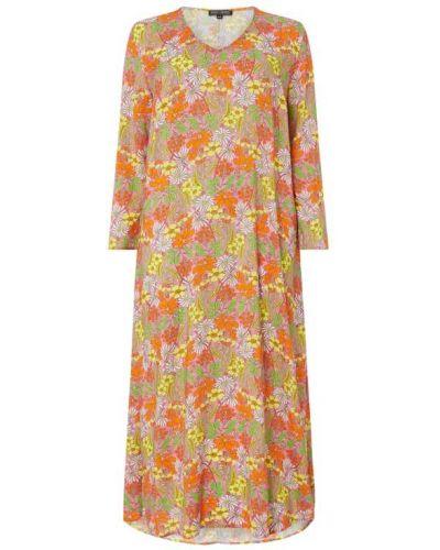 Sukienka rozkloszowana z długimi rękawami z wiskozy Risy & Jerfs