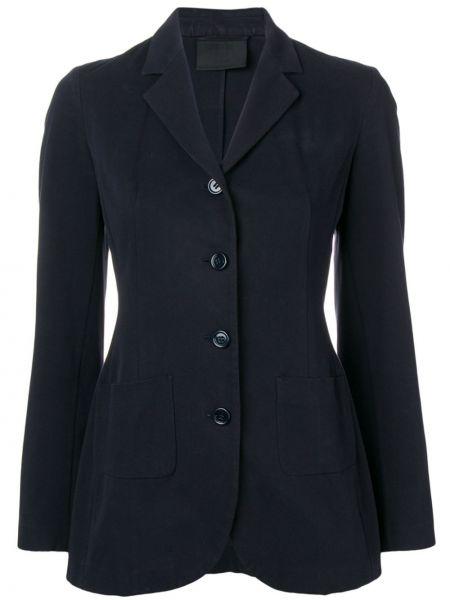 Синий пиджак Prada Pre-owned