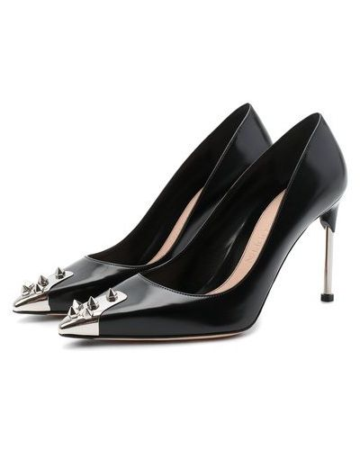 Кожаные туфли с подкладкой с декоративной отделкой Alexander Mcqueen