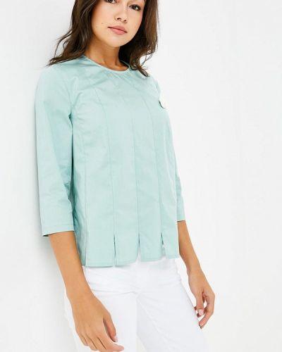 Блузка с длинным рукавом бирюзовая весенний Prio
