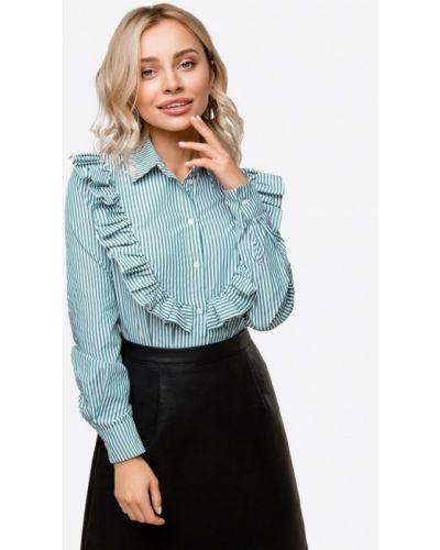 Блузка с длинным рукавом зеленый осенняя Solou