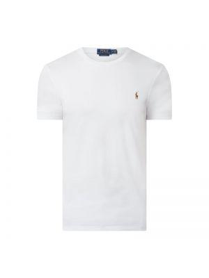 Biały t-shirt bawełniany Polo Ralph Lauren