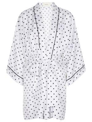 Шелковый халат - белый Rodarte