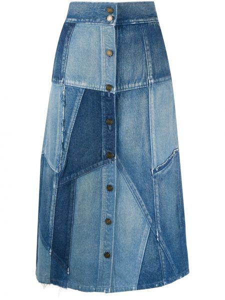 Джинсовая юбка - синяя Saint Laurent
